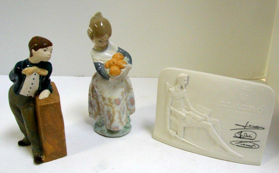 Lladro Valencian Girl #4841, Plaque, Rex Figurine