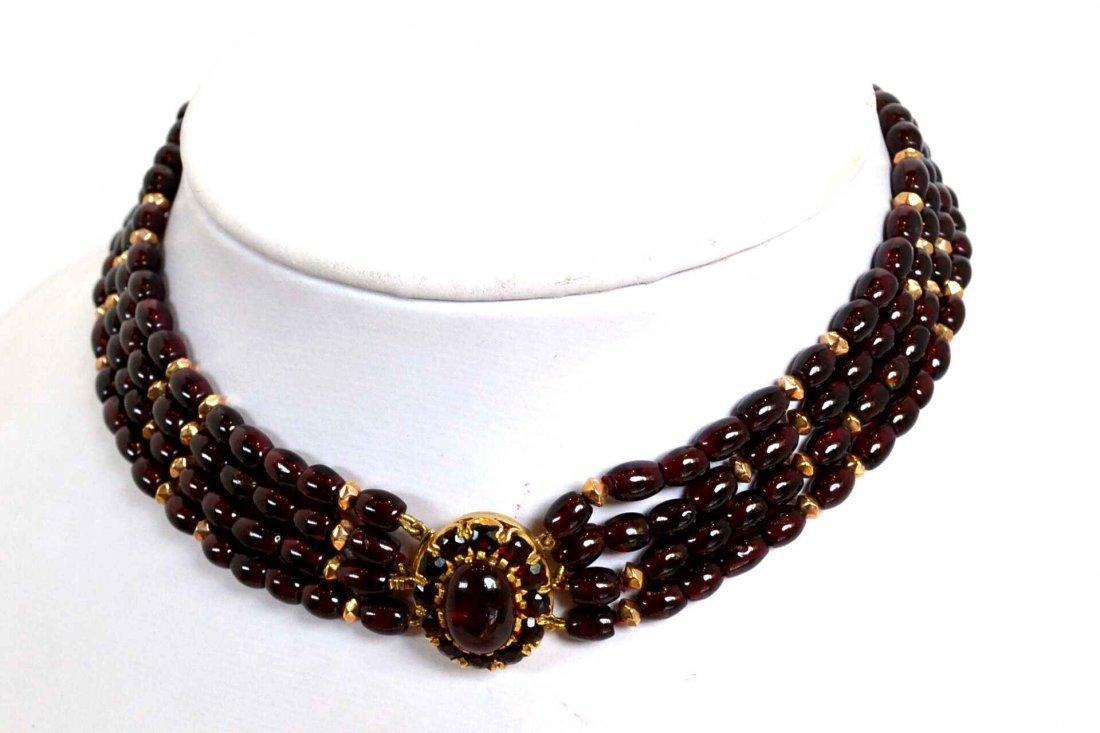 Vintage Garnet bead Necklace