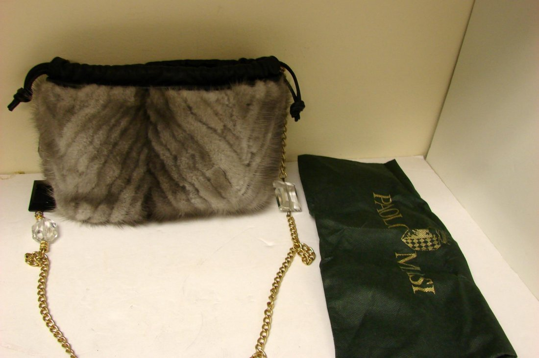 Authentic Paolo Masi Mink Purse Bag  made in Italy