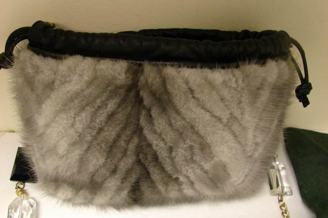 Authentic Paolo Masi Mink Purse Bag  made in Italy - 2