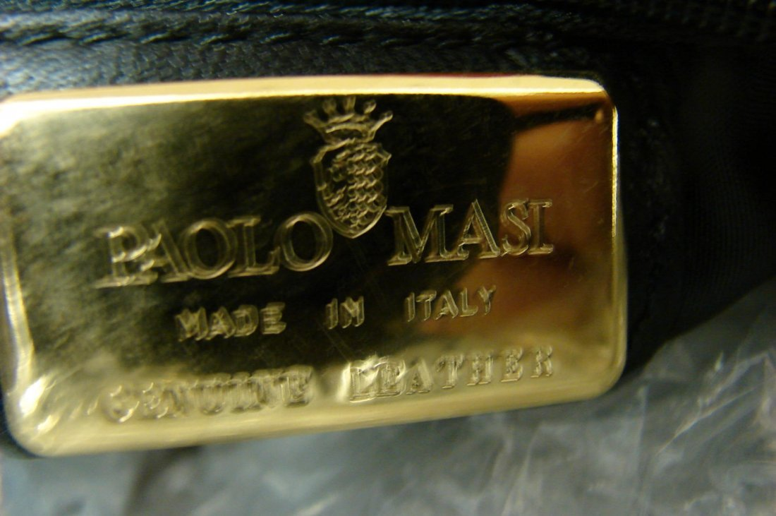 Authentic Paolo Masi Mink Purse Bag  made in Italy - 3