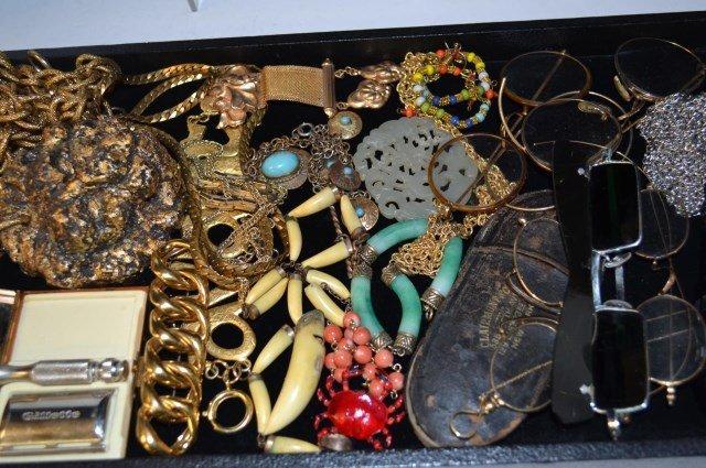 Lot of Costume Jewelry & Eyeglasses