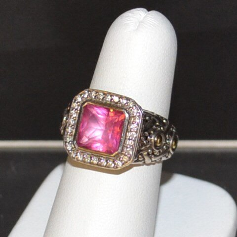 Sterling Pink Tourmaline Ring By John Hardy
