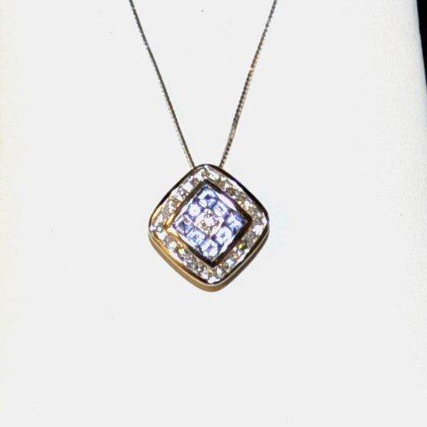 14kwg Tanzanite & Diamond Necklace
