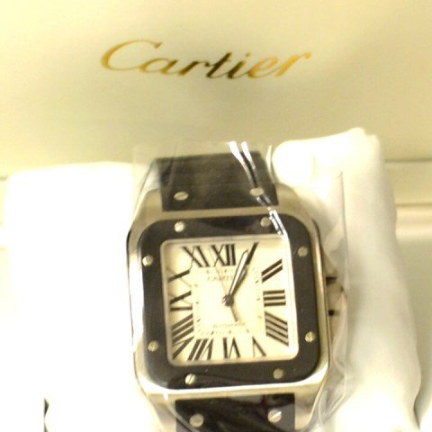 Man's Stainless Cartier Santos 100 Automatic Watch