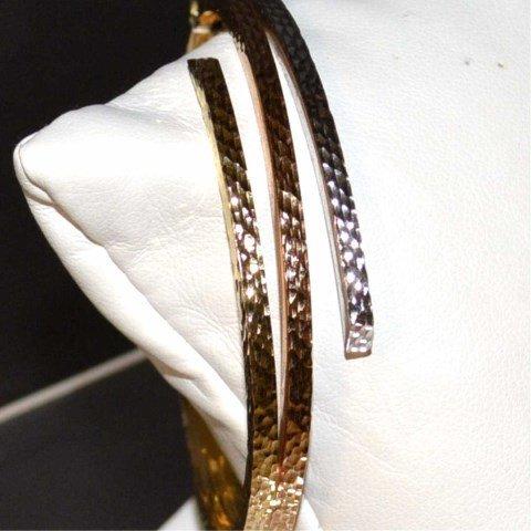 14k Tri Colored Bangle Bracelet