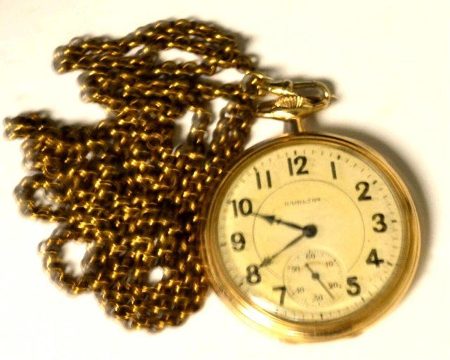 Hamilton Open Faced Pocket Watch
