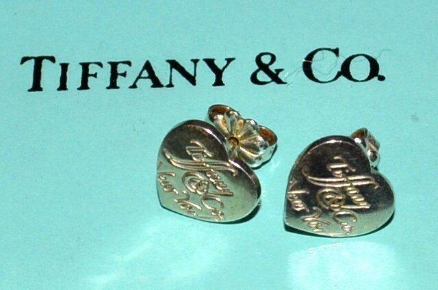 """Sterling """"Notes"""" Heart Earrings Tiffany & Co"""
