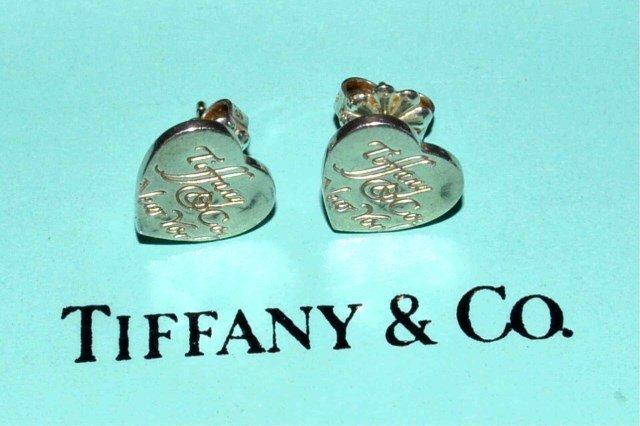 """Sterling """"Notes"""" Heart Earrings Tiffany & Co - 3"""