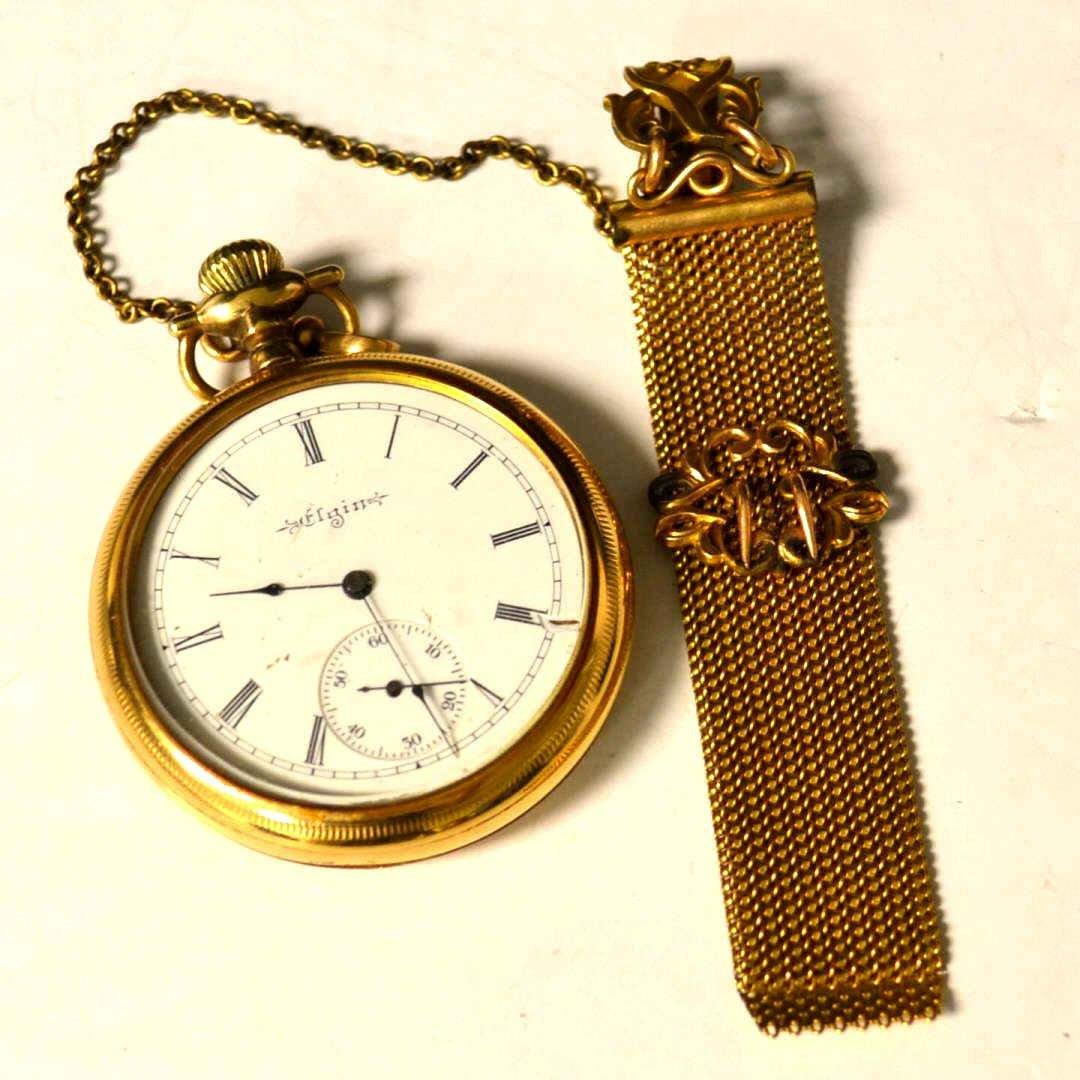 Open Faced Elgin Pocket Watch