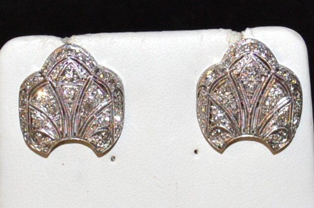 14kwg Vintage Diamond Earrings