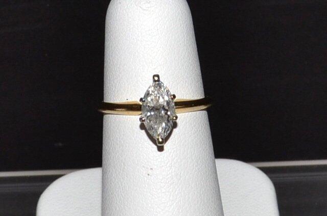1.05ct Marquise Diamond Solitaire I1/i