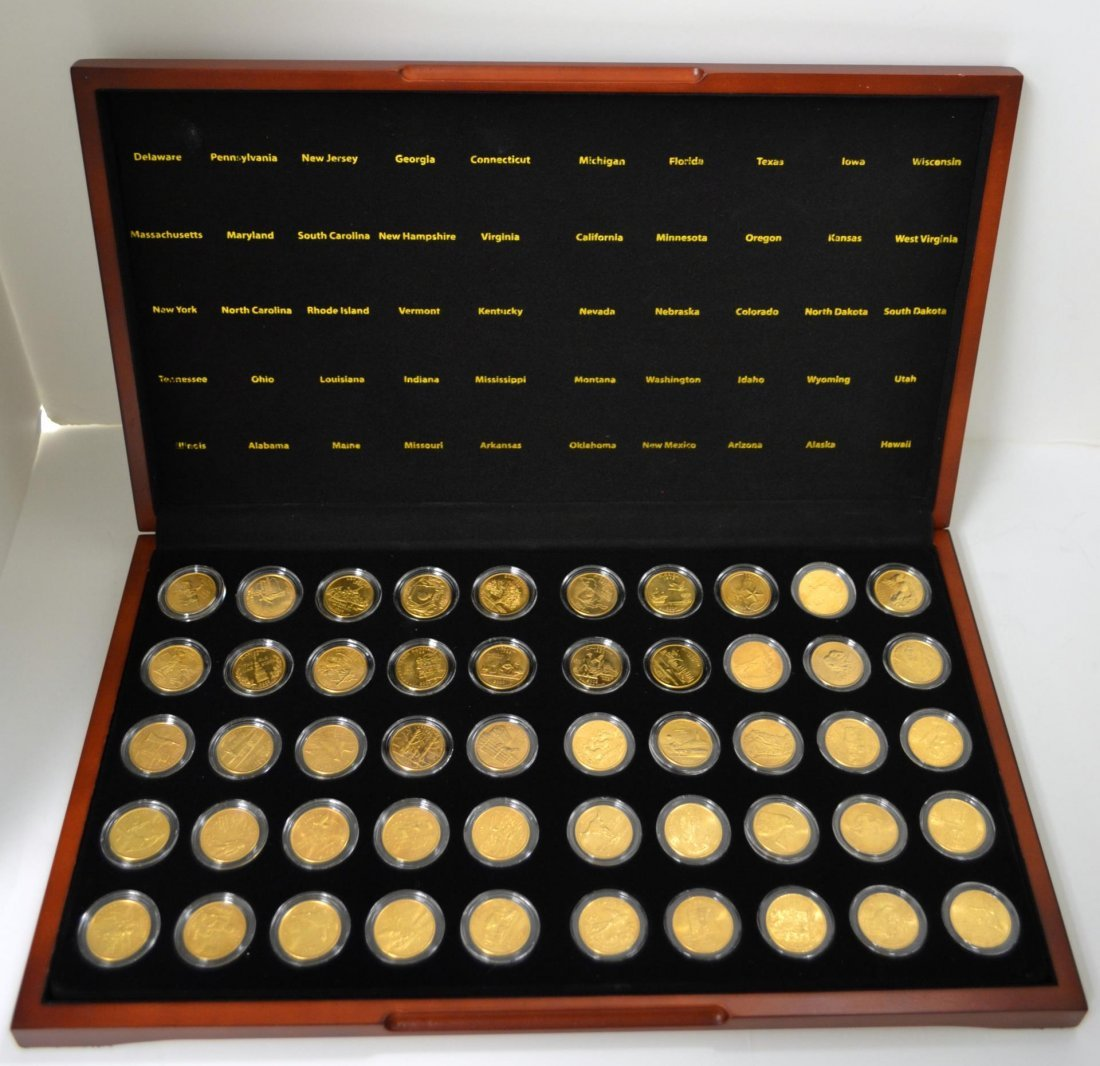 1999-2008 Set of Gold Plated State Hood Quarters