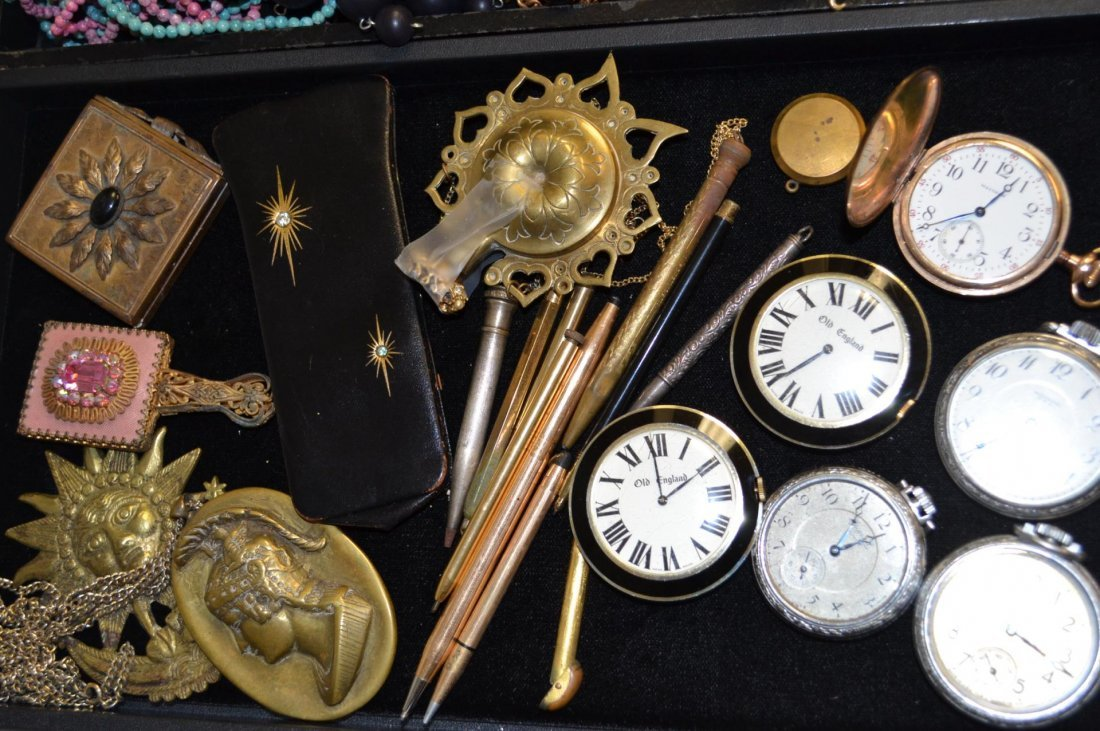 Lot of Pocket Watches & Pens