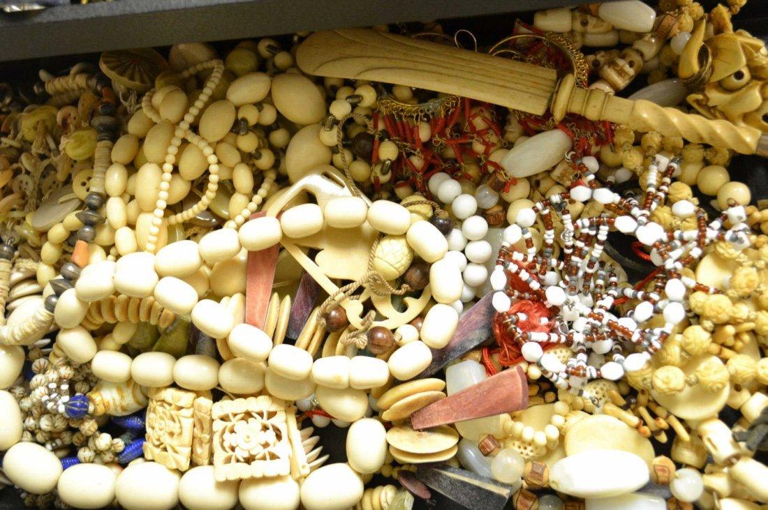 Lot of Vintage Bone & Ivory Jewelry