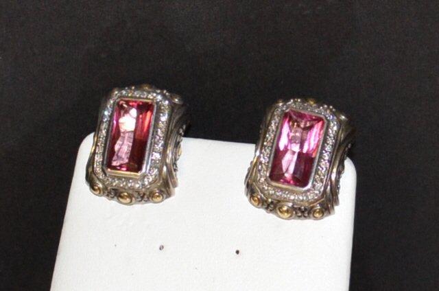 Sterling Pink Tourmaline Earrings By John Hardy