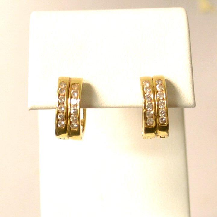 14kyg Diamond Hoop Earrings