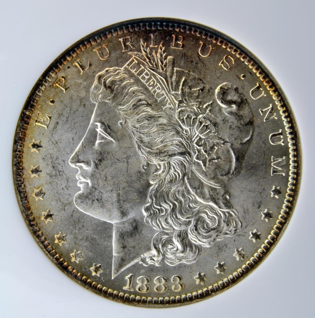 1883 O Morgan Silver Dollar NGC MS 63