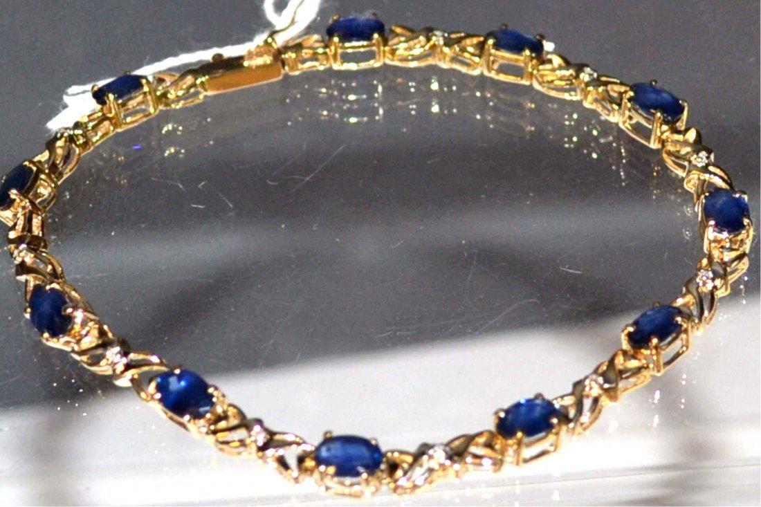14kt Sapphire Bracelet