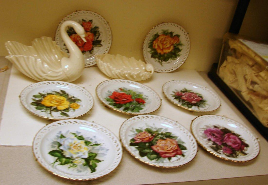 8 American Rose Garden Plates, 2 pcs. Lexox