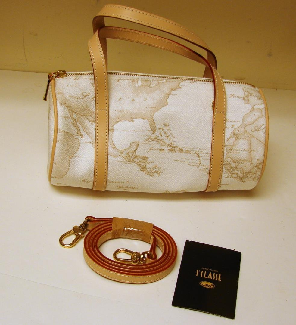 Alviro Martini Beige & White Shoulder Bag