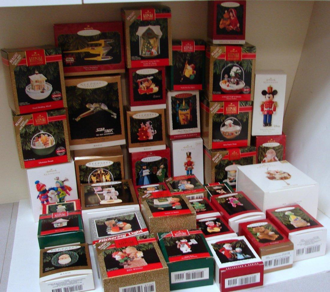 Lot of 37 Hallmark Keepsake Ornaments in Boxes