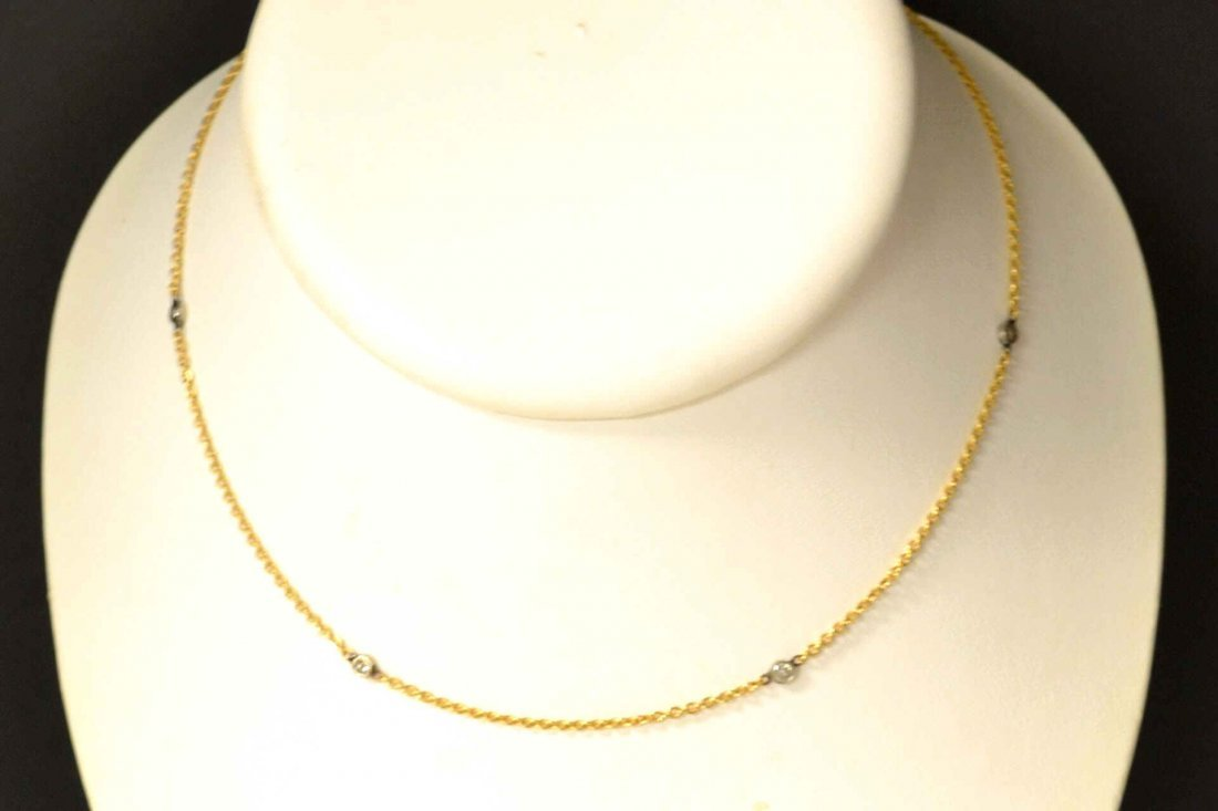 14kyg Floating Diamond Necklace