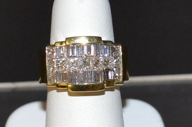 18kyg Princess Baguette Diamond Band 3ctw