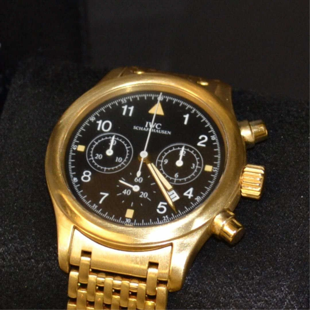 Man's 18k IWC Der Flieger Chronograph Watch #3741 - 2