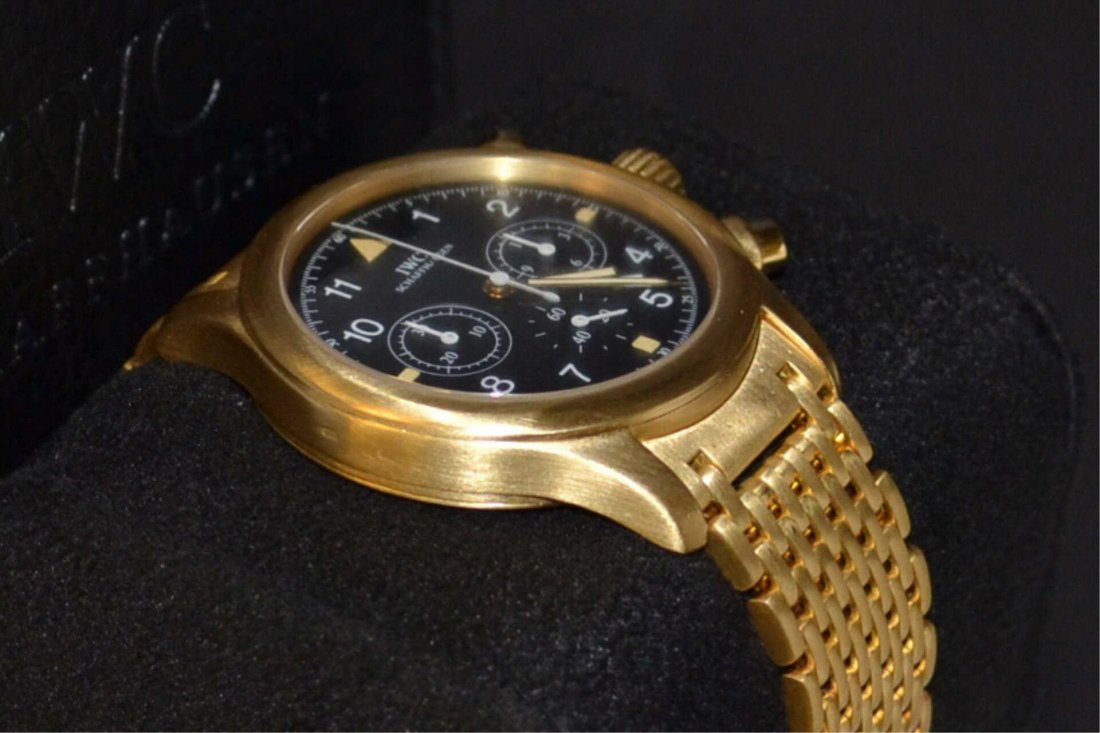Man's 18k IWC Der Flieger Chronograph Watch #3741 - 3