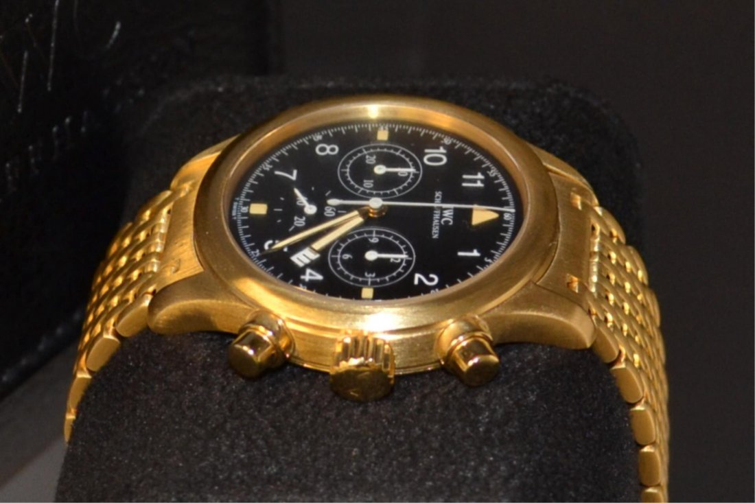 Man's 18k IWC Der Flieger Chronograph Watch #3741 - 4