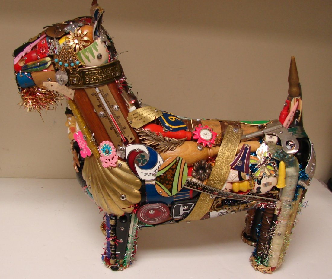 "Leo Sewell Life Size ""Dog"" Sculpture"