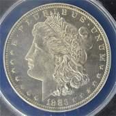 1883 O Morgan Silver Dollar ANACS MS 63 Cameo PL