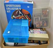5 Albums  1000s of Loose Sports CardsNew Binder