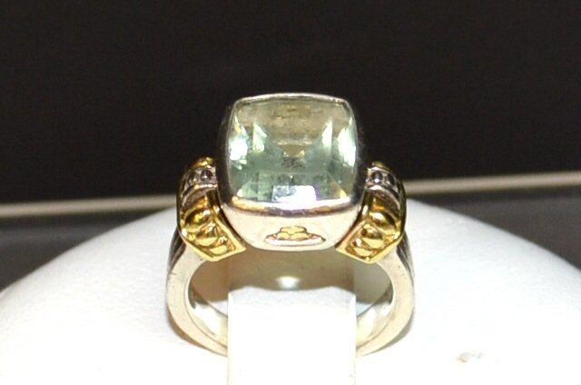 Sterling & 18k Lagos Peridot Ring