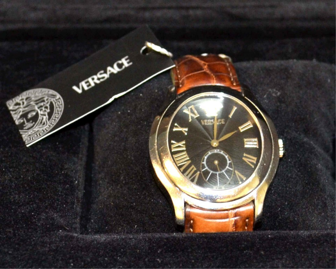 Versace Stainless Bond Street Watch