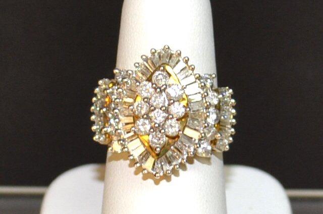 Diamond Ballerina Ring 10kyg