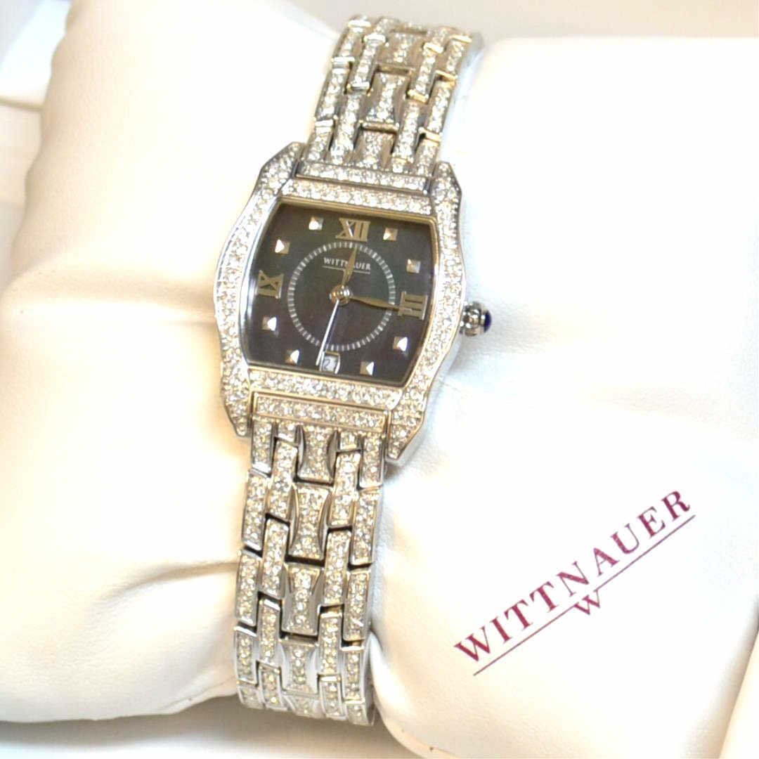 Lady's Stainless Wittenauer Crystal Watch