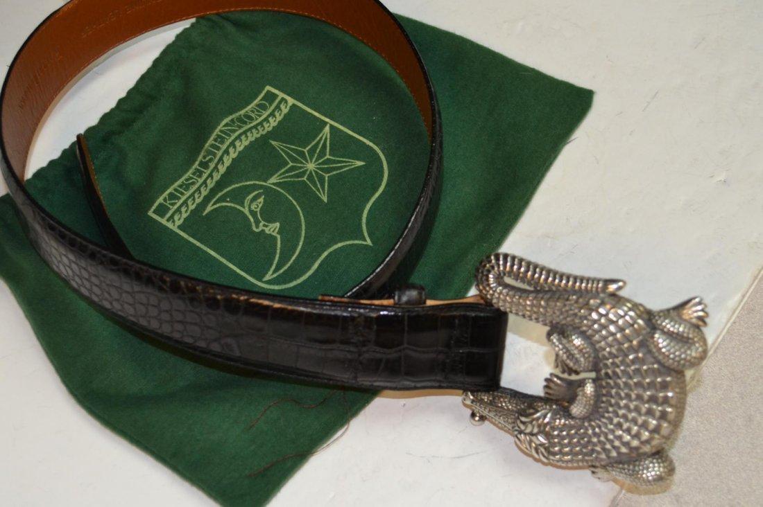 Sterling Alligator Belt Buckle Kieselstein-Cord