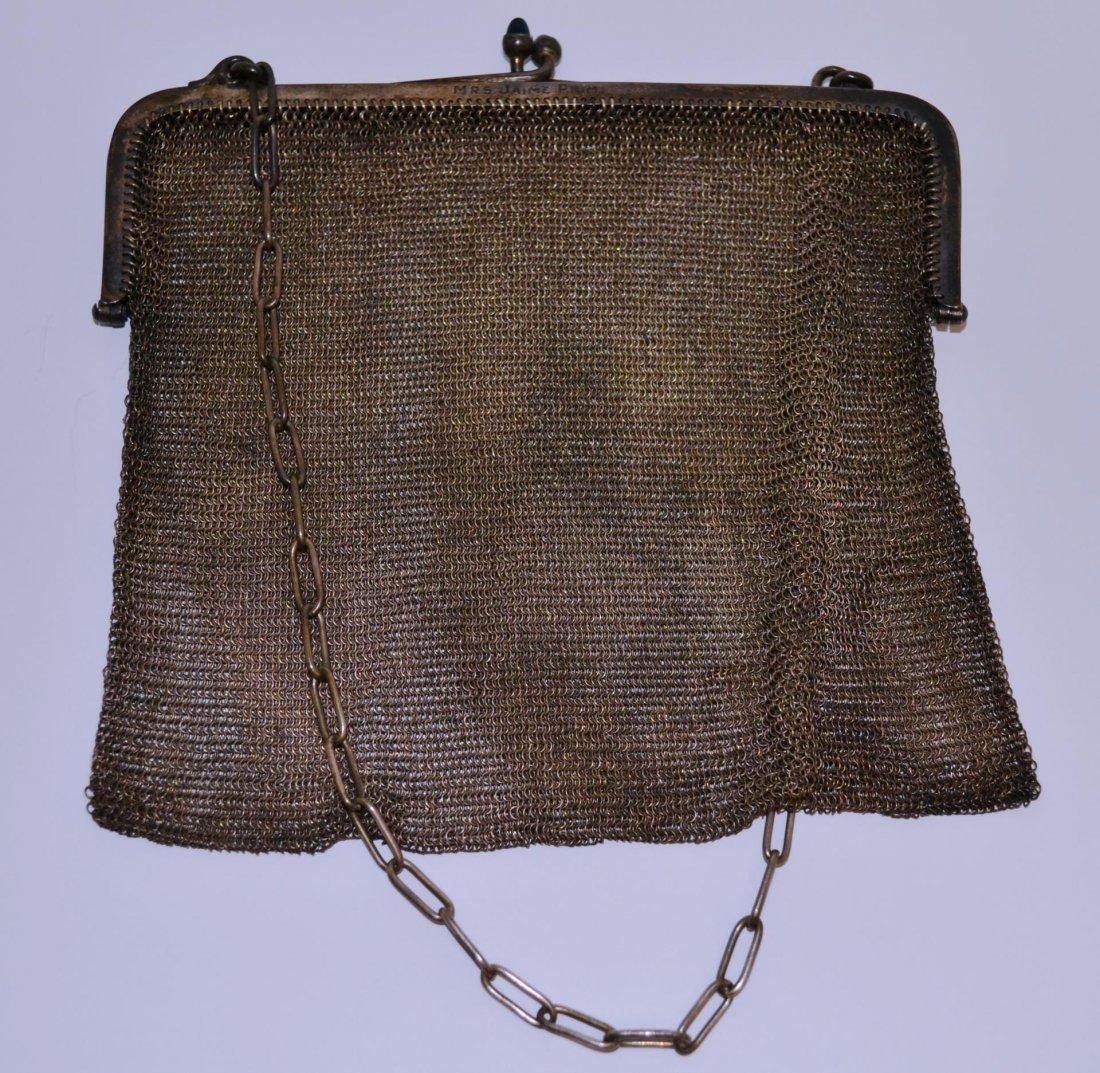 Antique sterling A.W.& Co mesh purse