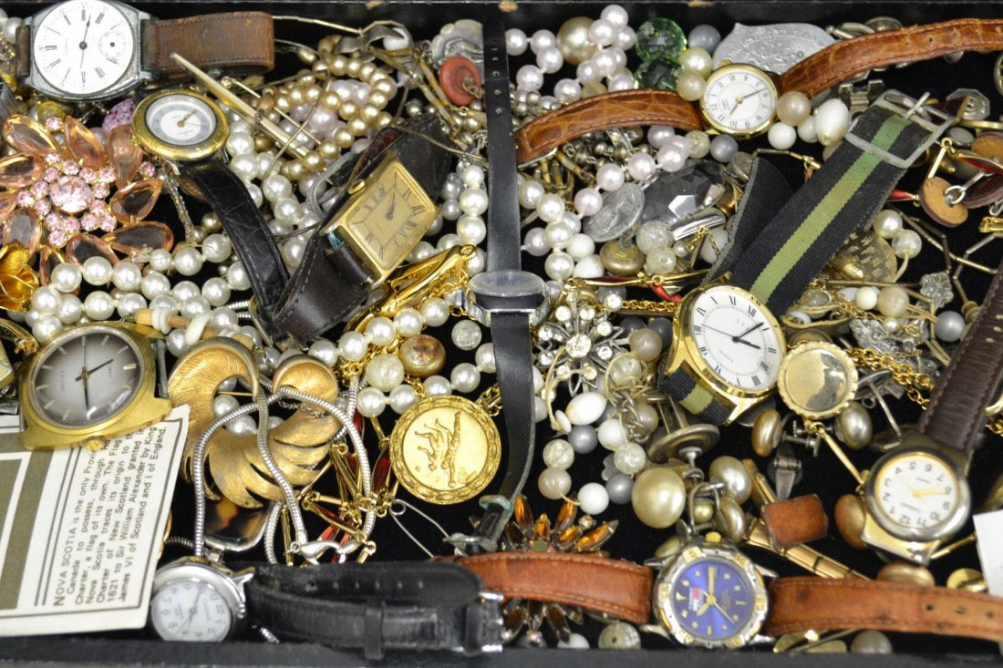 Lot of Assorted Costume Jewelry & Watches