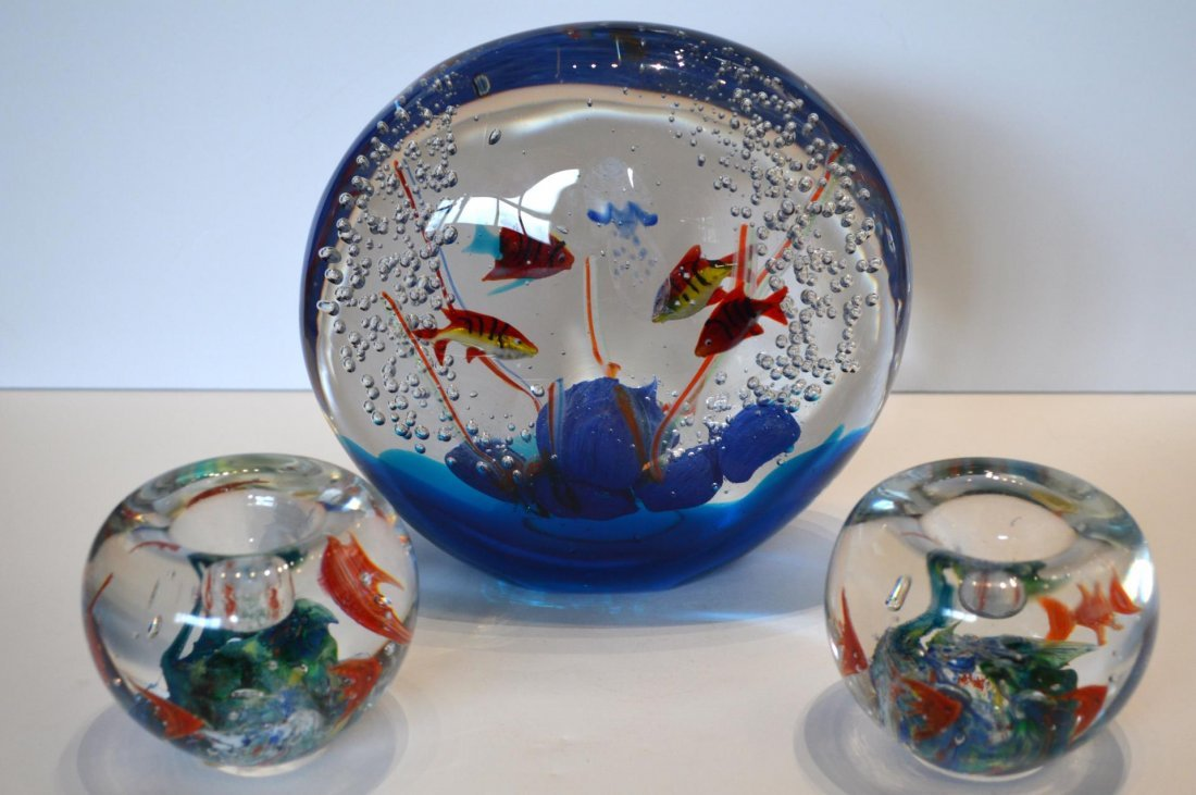 """Murano """"Aquarium"""" and Paperweights"""