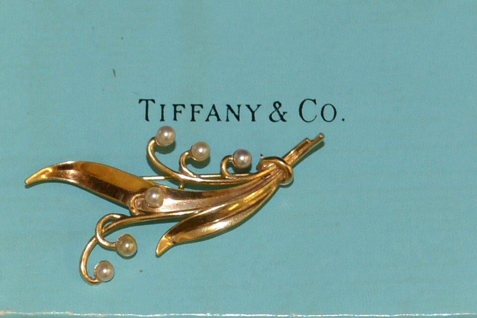 14kyg Pearl Brooch Tiffany & Co