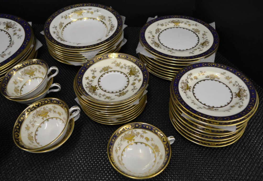 61pc Minton Dynasty Cobalt Blue china - 3