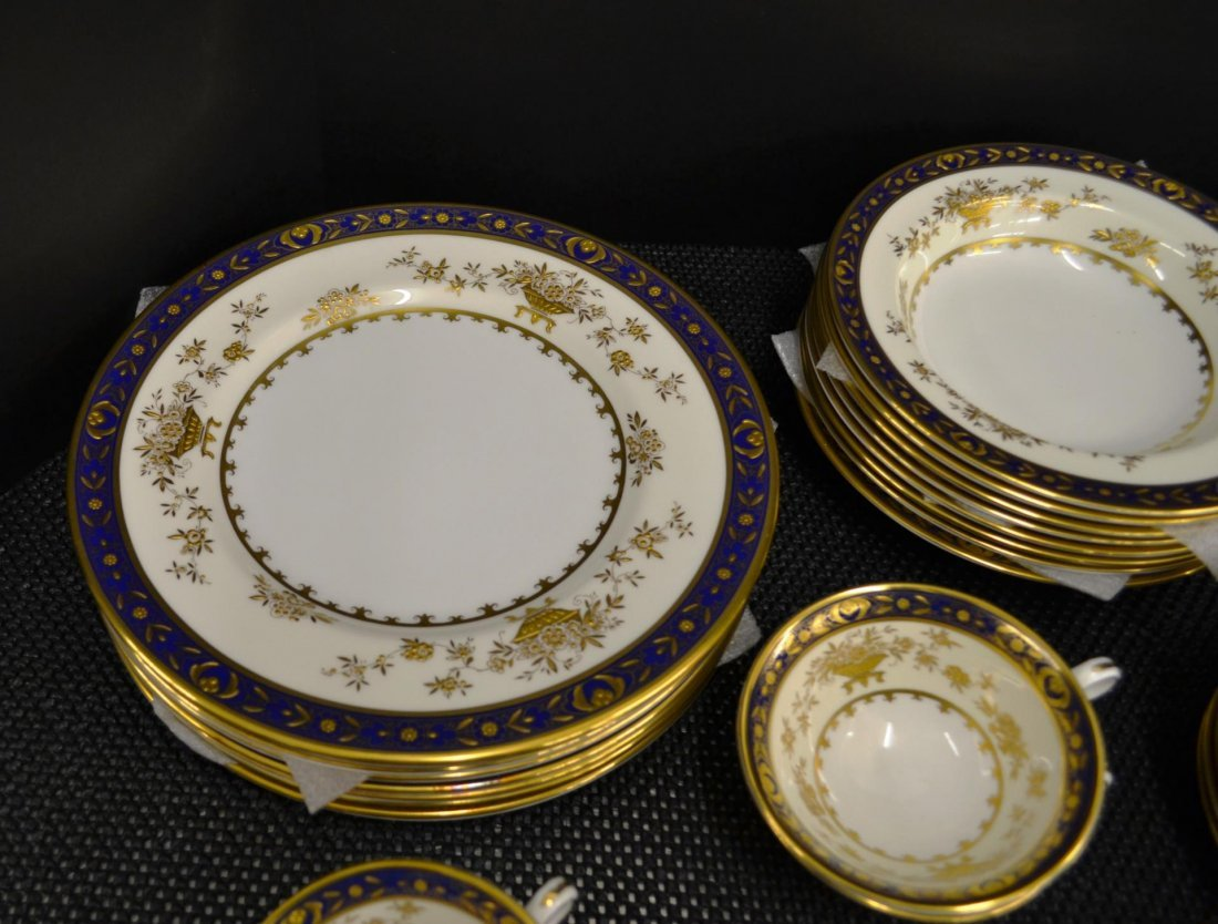 61pc Minton Dynasty Cobalt Blue china - 4