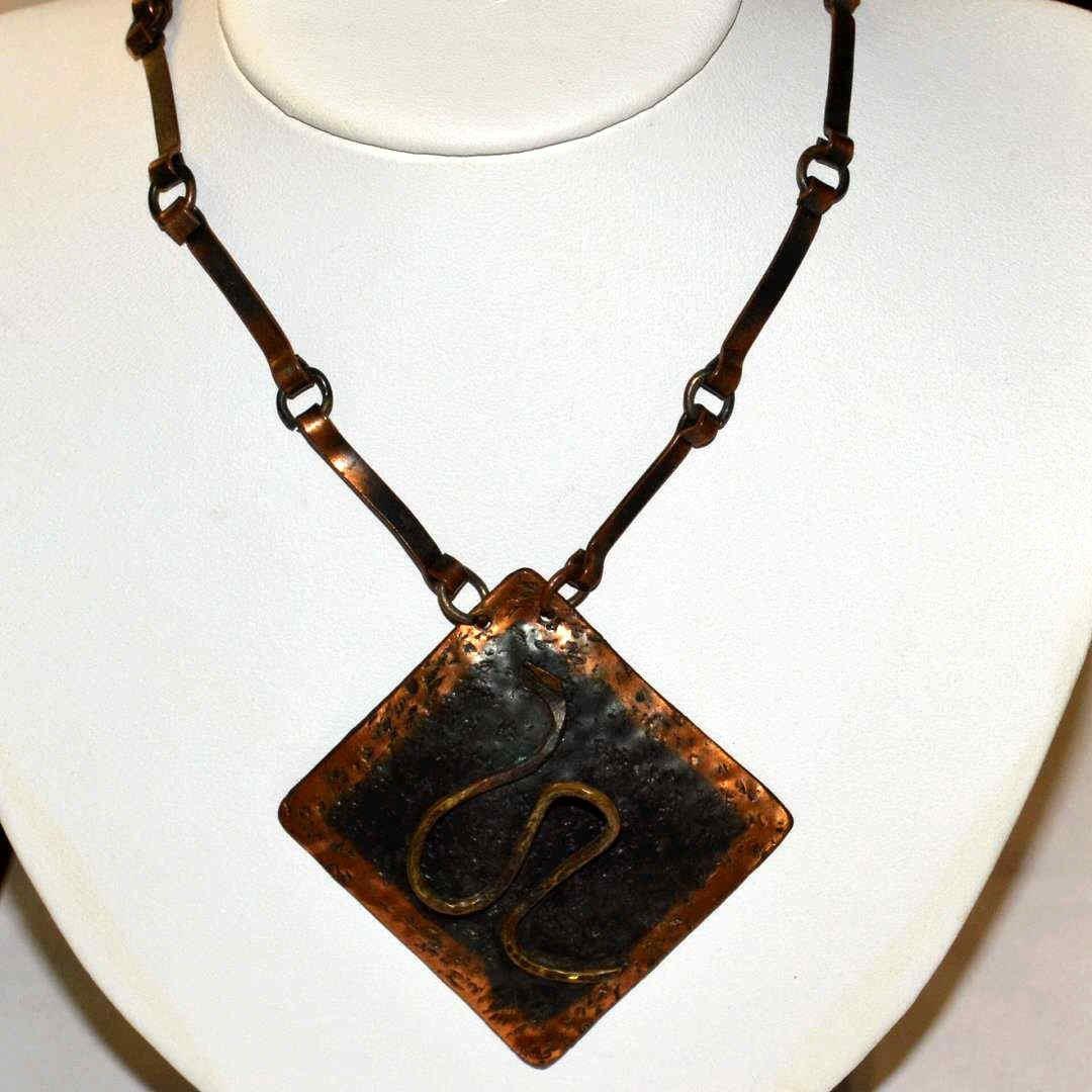 Copper Snake Necklace