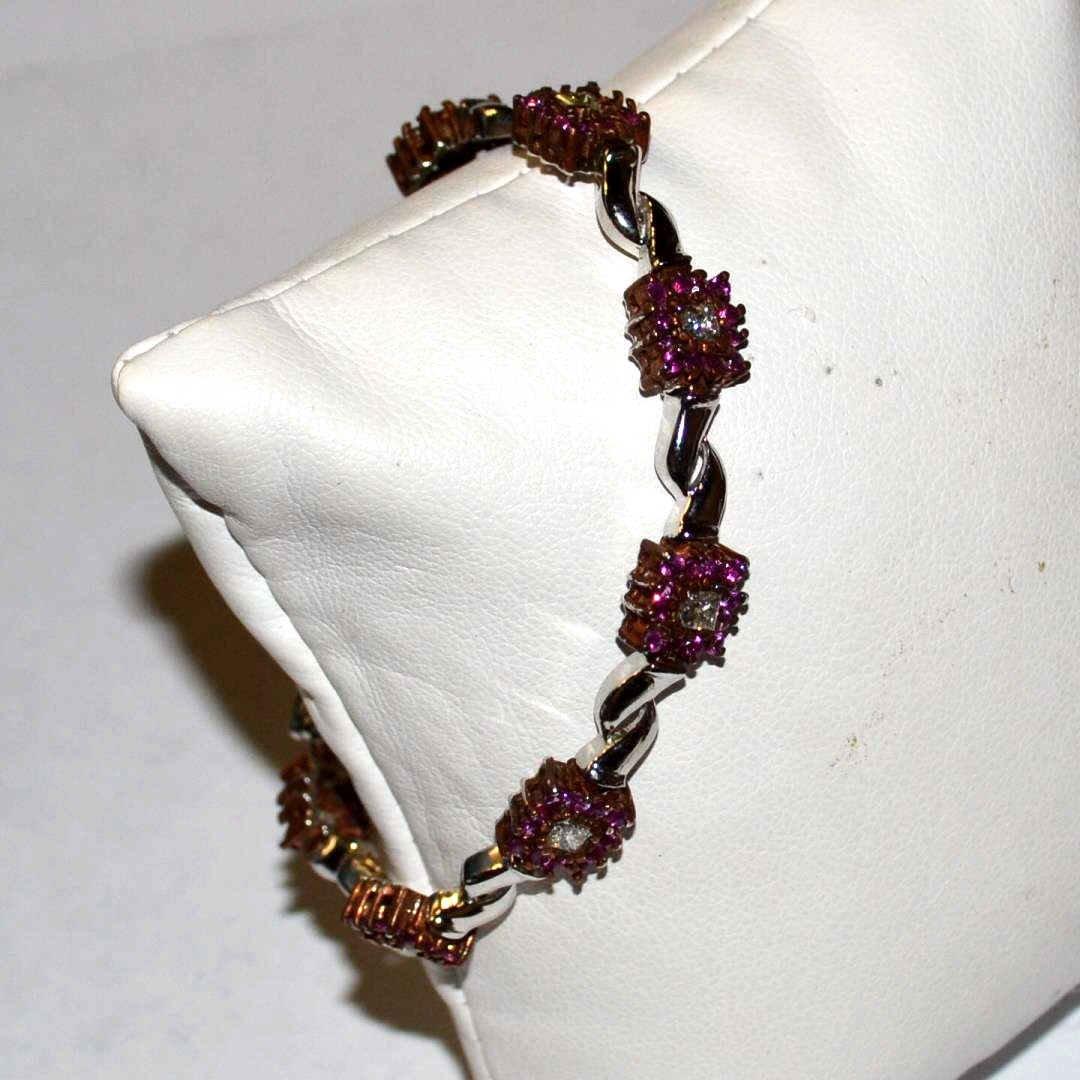 14kwg Ruby & Diamond Bracelet