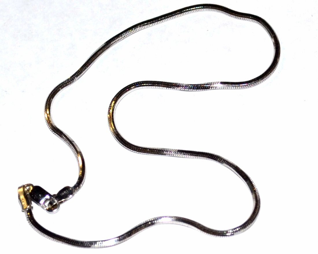 14kwg Mirrored Snake Ankle Bracelet
