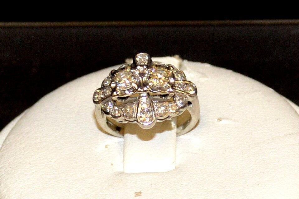 Vintage Platinum Diamond Ring 1ctw