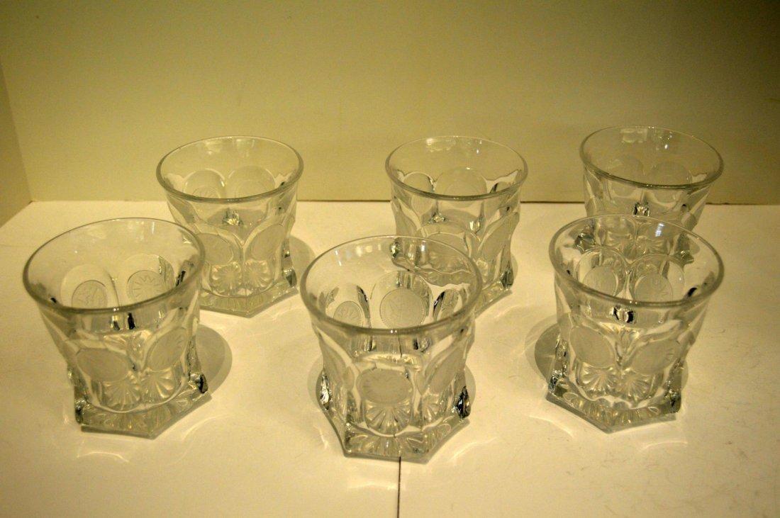 Six Fostoria Old Fashioned Glasses